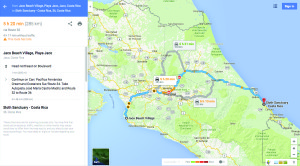 MAP Jaco to Sloth Sanctuary_030316
