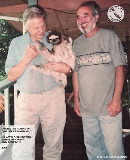 Sir David Attenborough meets Luis Arroyo and Buttercup - 2001